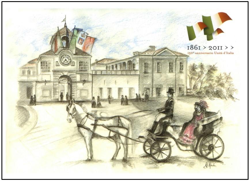 """Venaria Reale nell'Arte: """"Il Risorgimento"""" Proprietà artistica: Pro Loco Altessano Venaria Reale - 2011 - Vietata la riproduzione"""